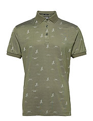 Glen Regular Fit Golf Polo - JL BRIDGE THYME GREEN
