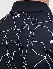 J. Lindeberg Golf - Tour Tech Reg Fit Print Polo - kurzärmelig - slit navy - 7
