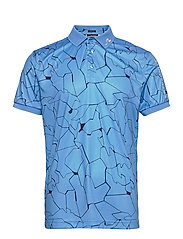 Tour Tech Reg Fit Print Polo - SLIT OCEAN BLUE