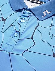 J. Lindeberg Golf - Tour Tech Reg Fit Print Polo - kurzärmelig - slit ocean blue - 8