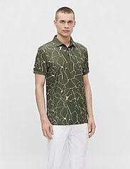 J. Lindeberg Golf - Tour Tech Reg Fit Print Polo - kurzärmelig - slit thyme green - 0