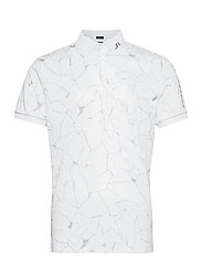 Tour Tech Reg Fit Print Polo - SLIT WHITE