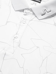 J. Lindeberg Golf - Tour Tech Reg Fit Print Polo - kurzärmelig - slit white - 8