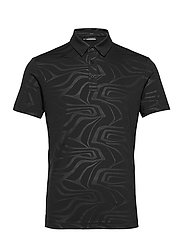 Tony Slim Fit Golf Polo Print - NEO DEBOSS BLACK