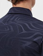 J. Lindeberg Golf - Tony Slim Fit Golf Polo Print - kurzärmelig - neo deboss navy - 6