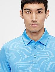 J. Lindeberg Golf - Tony Slim Fit Golf Polo Print - kurzärmelig - neo deboss ocean blue - 5