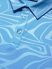 J. Lindeberg Golf - Tony Slim Fit Golf Polo Print - kurzärmelig - neo deboss ocean blue - 8