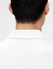 J. Lindeberg Golf - Tony Slim Fit Golf Polo Print - kurzärmelig - neo deboss white - 6