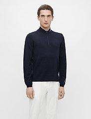J. Lindeberg Golf - Zam Zipped Golf Sweater - half zip - black melange - 0