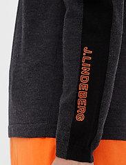 J. Lindeberg Golf - Zam Zipped Golf Sweater - half zip - black melange - 8
