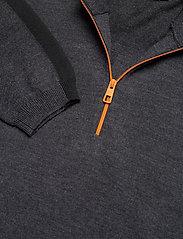 J. Lindeberg Golf - Zam Zipped Golf Sweater - half zip - black melange - 9