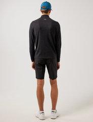 J. Lindeberg Golf - Max Zipped Golf Sweater - half zip - black melange - 3