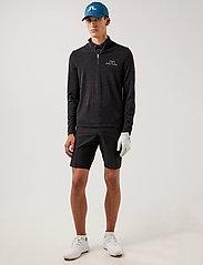 J. Lindeberg Golf - Max Zipped Golf Sweater - half zip - black melange - 4