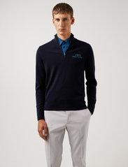 J. Lindeberg Golf - Max Zipped Golf Sweater - half zip - jl navy melange - 0