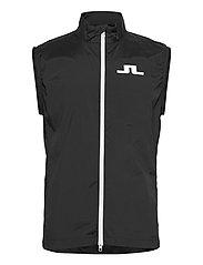Ash Light Packable Golf Vest - BLACK