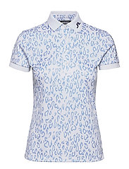 Tour Tech Print Golf Polo - ANIMAL BLUE WHITE