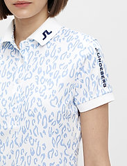 J. Lindeberg Golf - Tour Tech Print Golf Polo - polos - animal blue white - 6