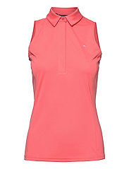 Dena Sleeveless Golf Top - TROPICAL CORAL