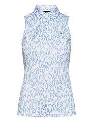 Dena Sleeveless Golf top Print - ANIMAL BLUE WHITE