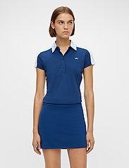 J. Lindeberg Golf - Cara Golf Polo - polos - animal blue white - 0