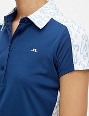 J. Lindeberg Golf - Cara Golf Polo - polos - animal blue white - 5