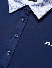 J. Lindeberg Golf - Cara Golf Polo - polos - animal blue white - 8