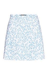 Adina Printed Golf Skirt - ANIMAL BLUE WHITE