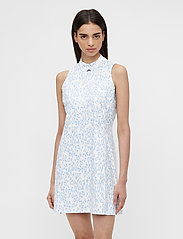 J. Lindeberg Golf - Nena Print Golf Dress - everyday dresses - animal blue white - 0