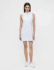 J. Lindeberg Golf - Nena Print Golf Dress - everyday dresses - animal blue white - 6