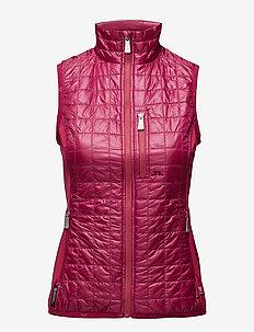 W Bona Hybrid Vest Pertex Q - golfjakker - dk pink/purple