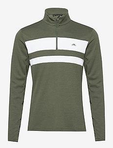 Bran Golf Mid Layer - fleece - thyme green melange