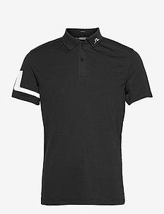 Heath Regular Fit Golf Polo - kurzärmelig - black