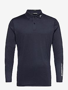 Jakob Slim Fit LS Golf Polo - langärmelig - jl navy