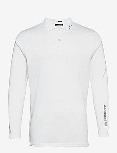 Jakob Slim Fit LS Golf Polo - langärmelig - white