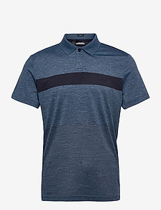 Jay Slim Fit Golf Polo - kurzärmelig - navy melange
