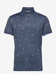 Glen Regular Fit Golf Polo - polo's - jl bridge ocean blue