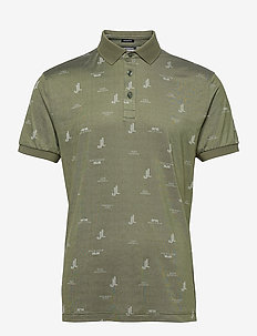 Glen Regular Fit Golf Polo - pik - jl bridge thyme green