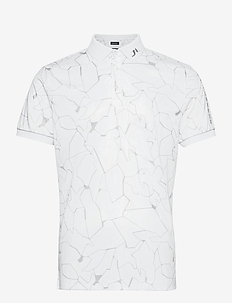 Tour Tech Reg Fit Print Polo - kurzärmelig - slit white