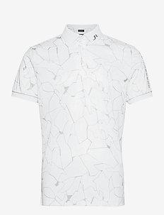 Tour Tech Reg Fit Print Polo - paidat - slit white