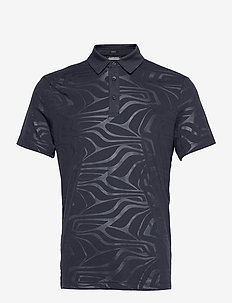 Tony Slim Fit Golf Polo Print - kurzärmelig - neo deboss navy