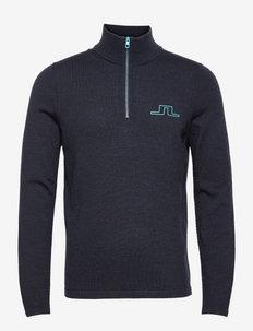 Max Zipped Golf Sweater - half zip-tröjor - jl navy melange