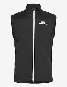 Ash Light Packable Golf Vest - golf-jacken - black