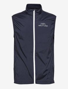 Ash Light Packable Golf Vest - golfjakker - jl navy