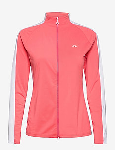 Marie Golf Mid Layer - golf jackets - tropical coral