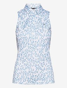 Dena Sleeveless Golf top Print - tank tops - animal blue white