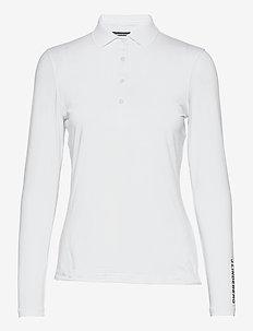 Tour Tech LS Golf Polo - polos - white