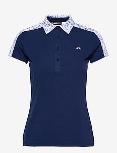 Cara Golf Polo - poloshirts - animal blue white