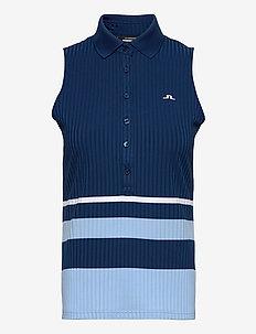 Tess Sleveeless Golf Top - topjes - midnight blue