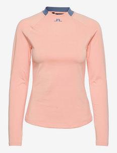 Eleonore Long Sleeve Golf Top - bluzki z długim rękawem - pale pink