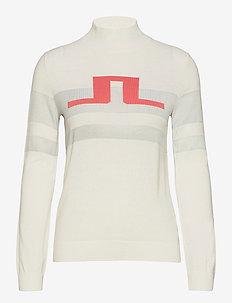 Rosa Golf Sweater - turtlenecks - white